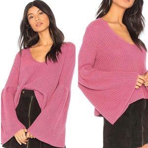 Free People Damsel Pullover Wide Sleeve Sweater